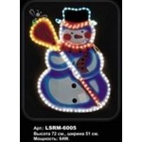 Снеговик с метлой из светодиодного 2-х проводного шнура O 11мм, Артикул : LSRM-6005
