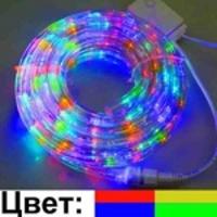 LED Дюралайт в катушке 10м.3-х жильный, (цветной) с контроллером 8 режимов DL-LED-10-3TC