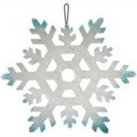 Пенопластовая снежинка (серебо, серебрянно-голубая), 24 см J1123-S
