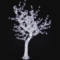 "LED дерево ""Сакура с белыми цветами"" 1,8м, 776 светодиодов, акриловый ствол"