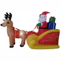 "Надувная фигура ""Дед Мороз с подарками на санях"", 1,8м"